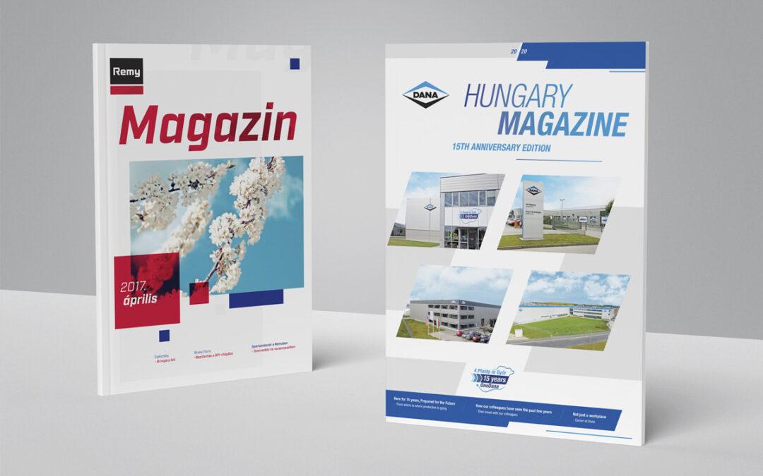 Vállalati magazin koncepciójának kidolgozása, tartalomgyártás, a projekt irányítása