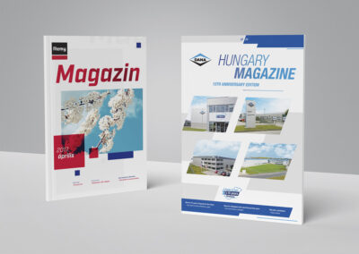 Company magazine – elaborating concept, content creation, project supervising
